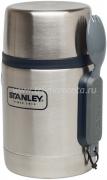 Термос для еды STANLEY Adventure 0,53 L Стальной с синей отделкой
