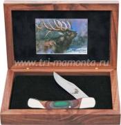 Нож складной Bear&Son Wildlife Elk в подарочной коробке