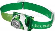 Налобный Фонарь LED LENSER SEO3 зеленый